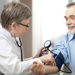 Blood Pressure Being Tested for Wellness Screening