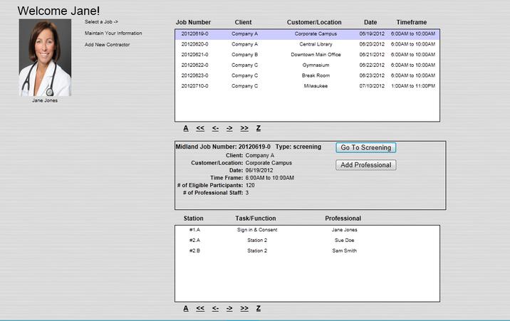 MoxieMetrics proprietary biometric data collection system Screenshot