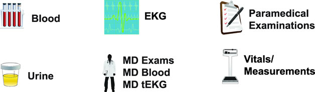 Paramed Services Blood, EKG, Examinations, Vitals
