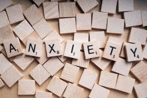 Anxiety Spelled Out With Yahtzee Tiles
