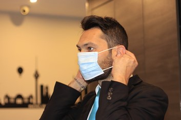 Man Wearing Mask for Covid-19
